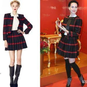 🎉NWOT- Alice+Olivia Pleated Plaid Box Wool Skirt